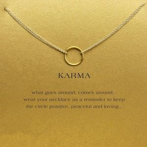 NEW💕 Good Karma Circle Gold Dipped Necklace Gift